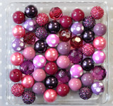 Plumtastic plum purple, azalea, and fuchsia bubblegum bead wholesale kit.