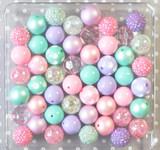 Matte Pastel easter bubblegum bead wholesale kit