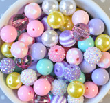 16mm Easter pastel chunky bubble gum bead mix