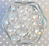 20mm Round Ab clear acrylic bubble gum beads