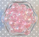 20mm Round Ab pink acrylic beads