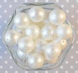 20mm Soft white wrinkle pearl bubblegum beads