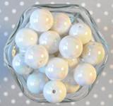 20mm White solid AB bubblegum beads