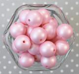 20mm Pink matte pearl bubblegum beads