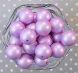 20mm Purple matte pearl bubblegum beads