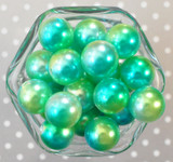 20mm Blue and green Ombre bubblegum beads