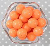 20mm Cantaloupe orange solid bubblegum beads