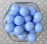 20mm Bluebird solid bubblegum beads