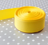 "7/8"" Maize yellow solid Offray grosgrain ribbon 10 yards"
