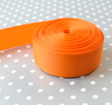 "7/8"" Torrid Orange solid Offray grosgrain ribbon 10 yards"