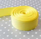 "7/8"" Baby Maize yellow solid Offray grosgrain ribbon 10 yards"