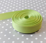 "5/8"" Lemongrass solid Offray grosgrain ribbon 10 yards"
