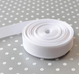 """5/8"""" White solid Offray grosgrain ribbon 10 yards"""
