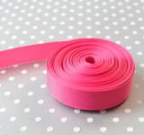 "5/8"" Shocking Pink solid Offray grosgrain ribbon 10 yards"