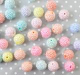 20mm Pastel Mix rhinestone bubblegum beads