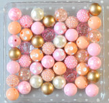 Pink and Peach bubblegum bead wholesale kit