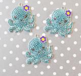 Octopus chunky rhinestone pendant