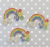 Rainbow chunky rhinestone pendant