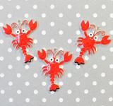 Rock Lobster chunky enamel pendant
