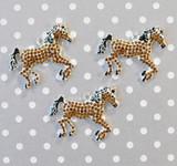 Horse chunky rhinestone pendant