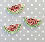 Watermelon chunky rhinestone pendant