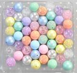 Pastel Rainbow bubblegum bead wholesale kit