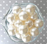 20mm Ivory pearl bubblegum beads for chunky necklaces