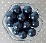 20mm Antique blue pearl bubblegum beads