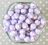 12mm Lavender purple polka dot bubblegum beads