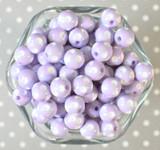 12mm Lavender purple polka dot bubblegum beads