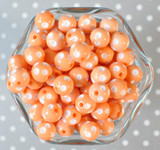 12mm Peach polka dot bubblegum beads