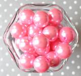 20mm Pink pearl bubblegum beads