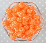 12mm Neon orange AB rhinestone bubblegum beads