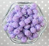 12mm Orchid purple rhinestone bubblegum beads