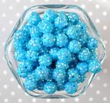12mm Turquoise AB rhinestone bubblegum beads