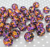 20mm Halloween confetti rhinestone bubblegum beads