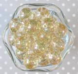 20mm Bubble bead Gold glitter AB