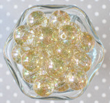 20mm Bubble bead Gold glitter AB
