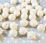 20mm Cream Glitter Party beads