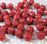 20mm Red Glitter Party beads