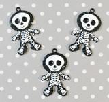 Halloween skeleton chunky pendant