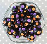 20mm Halloween polka dot bubblegum beads