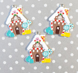 Gingerbread House chunky pendant