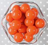 20mm Ginger solid bubblegum beads