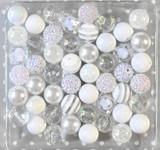 White Icicle bubblegum bead wholesale kit
