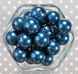 20mm Cadet blue pearl bubblegum beads