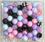 Black Pastel bubblegum bead wholesale kit