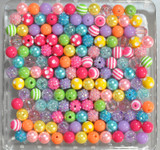 12mm Rainbow Pop bubblegum bead mix
