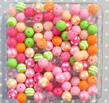 16mm Spring Fling  bubblegum bead mix