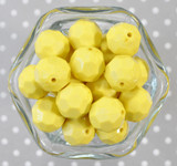 20mm Light yellow opaque faceted acrylic beads